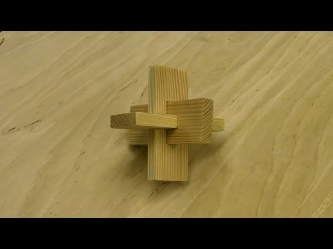 Three Piece Cross Knot - Wooden Puzzle