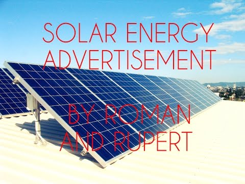 Solar Energy Advertisement