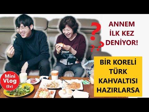 Koreli Bir Anneye Göre Türk Kahvaltısı   Anneme Türk Kahvaltısı Yaptım