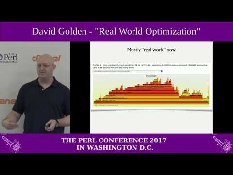 "David Golden - ""Real World Optimization"""