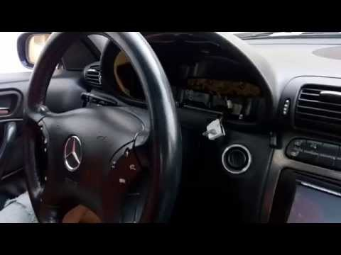 Remove mercedes instrument cluster / dashboard DIY by one2three