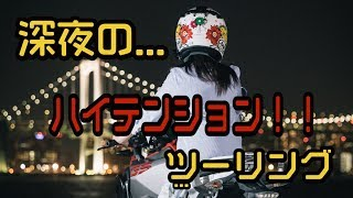 深夜の...ハイテンション!!!ソロツーリング皇居➡︎ディズニーランドツーリング【バイク女子】