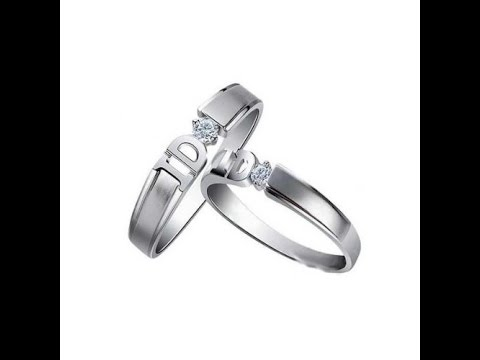 "FineTresor Say ""I DO"" Couples Wedding Diamond Ring Bands on White Gold"