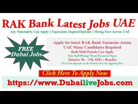RAK Bank Careers In Dubai | Bank Jobs In Dubai