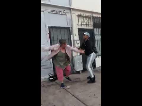 East Oakland buss down  (fight)