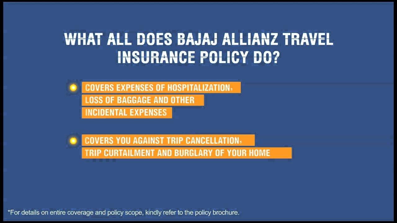 Travel Insurance Explained | Bajaj Allianz Travel Insurance - YouTube