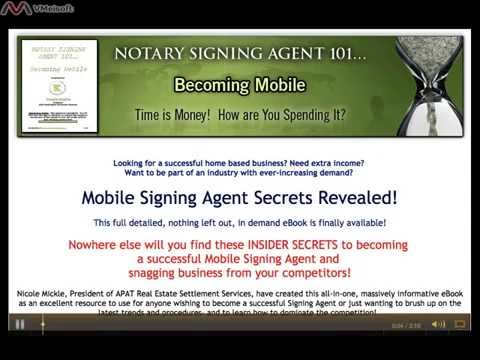 Notary Signing Agent 101 - Scam or Legit? - YouTube
