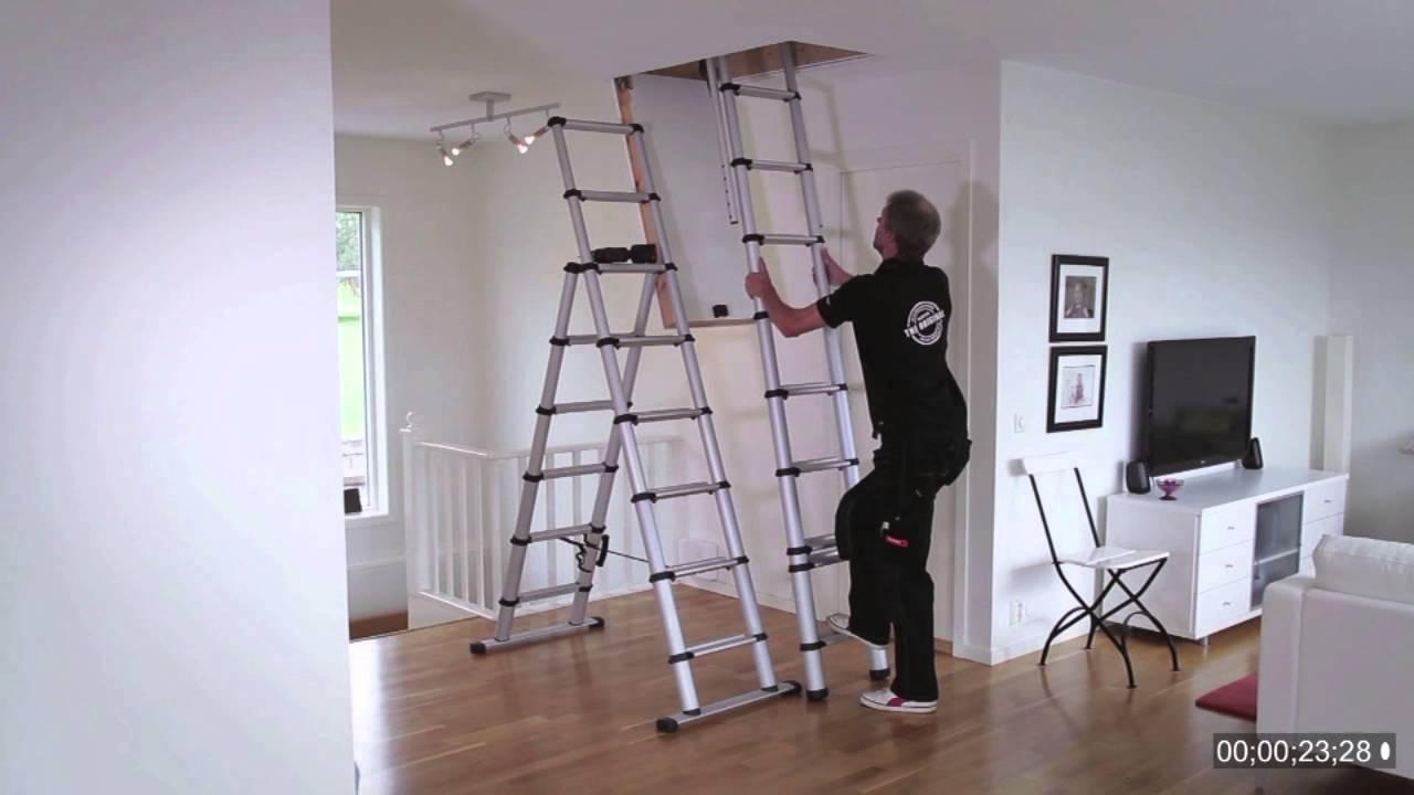 Scala retrattile in alluminio loft svelt youtube - Scale a botola da soffitto ...