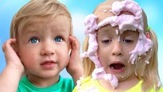 Así es como se lavan los juguetes + otras Canciones Infantiles con Katya y Dima