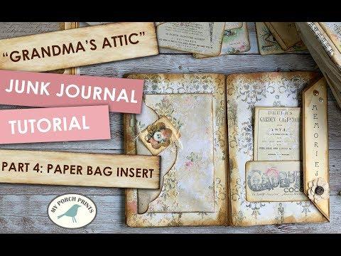 Junk Journal Tutorial - Part 4: Paper Bag Insert