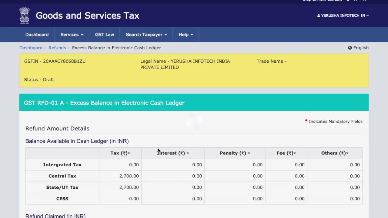 How To Claim Refund Under GST | Online Refund of GST