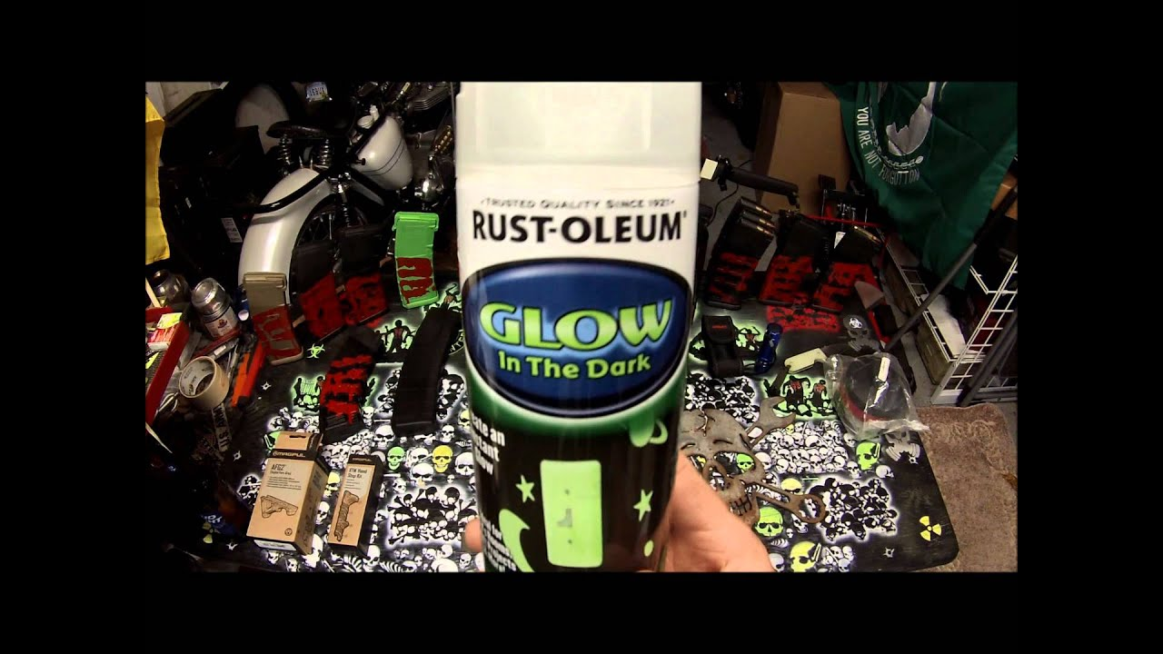 Rust Oleum Glow In The Dark Paint Review Youtube