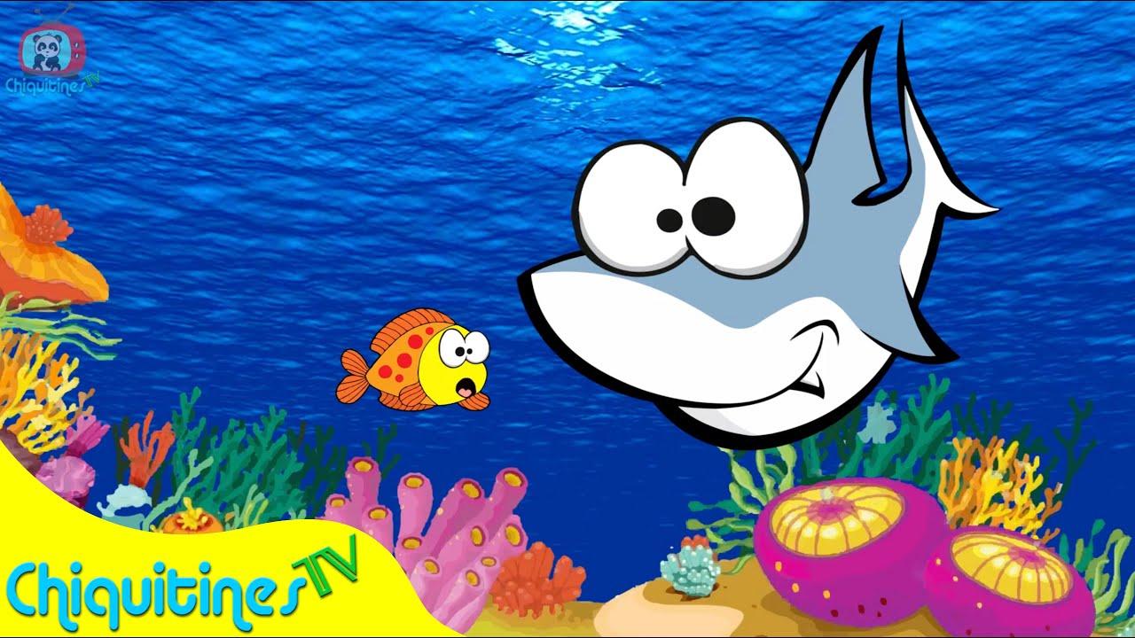 3 pecesitos se fueron a nadar canci n infantil youtube for Como pintar un mural infantil