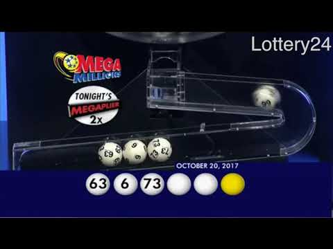 2017 10 20 Mega Millions Numbers and draw results