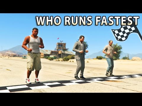GTA V - Which main Character is the Fastest? - YouTube