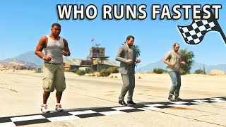 GTA V - Which main Character is the Fastest? thumbnail