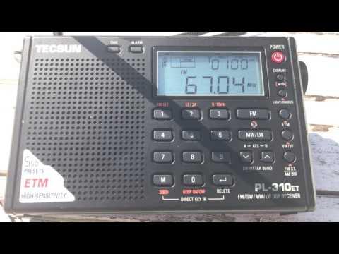 FM DX via Sporadic-E: UR 3 Radio Kultura 67.04 MHz, Lviv, Ukraine, Tecsun PL-310ET