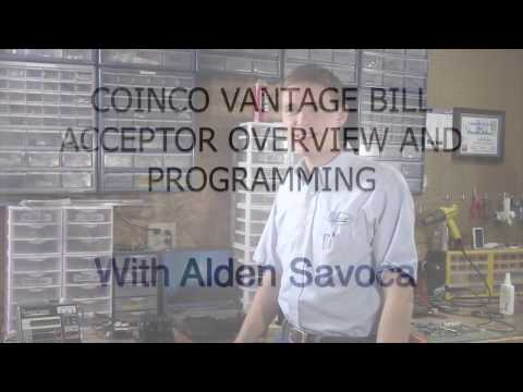 Coinco Vantage Bill Acceptor Overview and Programming - YouTube