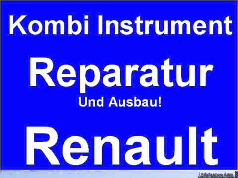kombi instrument renault scenic ausbau reparatur. Black Bedroom Furniture Sets. Home Design Ideas