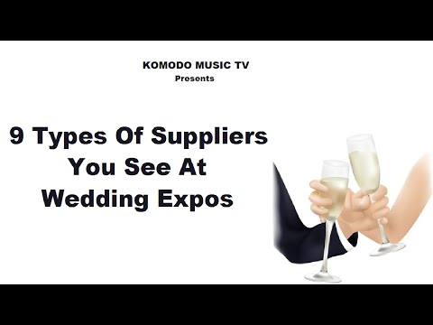9 Types of Suppliers at Wedding Expos [Komodo Music]