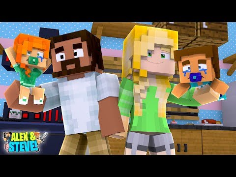 EVIL ALEX CHANGES HER IDENTITY & STEALS STEVE'S FAMILY HOUSE!! Minecraft LIFE of ALEX & STEVE