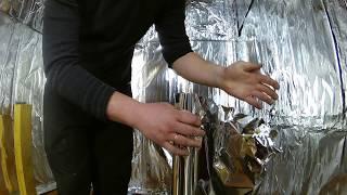 видео Алюминиевая фольга для бани