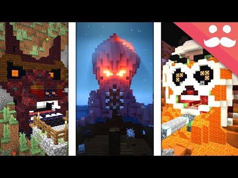 10 SCARIEST PISTON DOORS in Minecraft! thumbnail