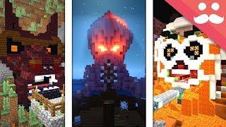 10 SCARIEST PISTON DOORS in Minecraft!