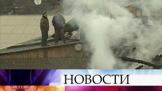 Мощный пожар ликвидировали в селе Дагестана.