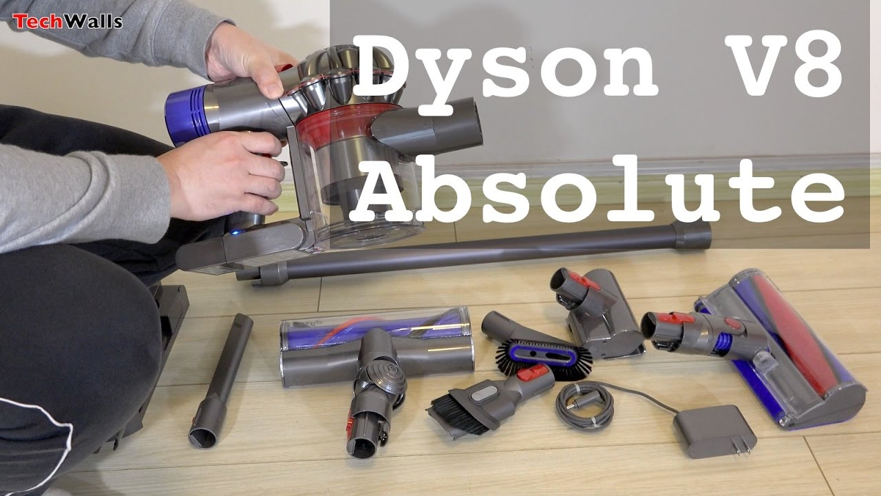 dyson v8 absolute cord free vacuum cleaner unboxing youtube. Black Bedroom Furniture Sets. Home Design Ideas