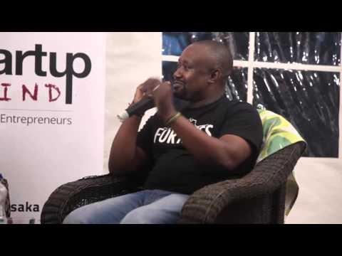 Malekano Mwanza and Edwin Chibanga (Fortress Media) at Startup Grind Lusaka