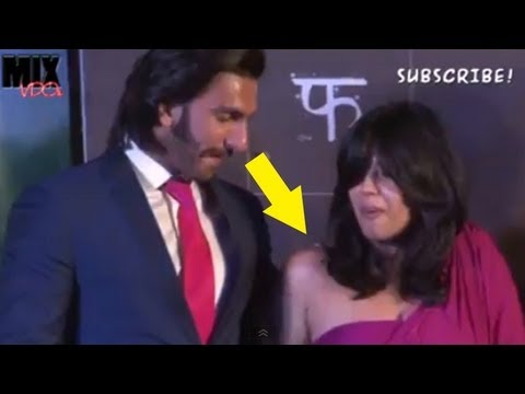 Ranveer Singh Enjoying Ekta Kapoor's Assets
