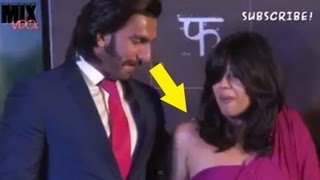 Ranveer Singh Enjoying Ekta Kapoor's Assets