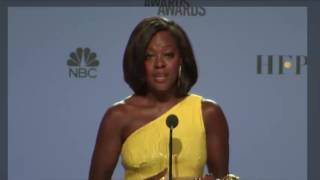 Golden Globes 2017 - Viola Davis - Full Backstage Interview