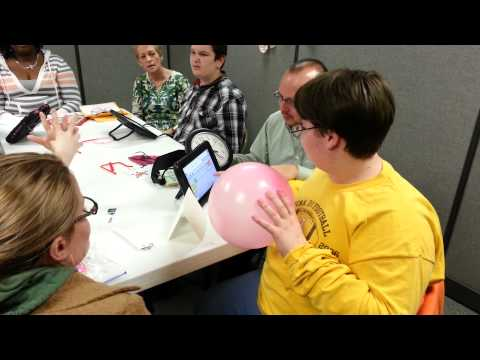 Pink Balloon Game using different Communication Devices!
