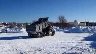 Snow Hauling, Tandem Dump Trucks