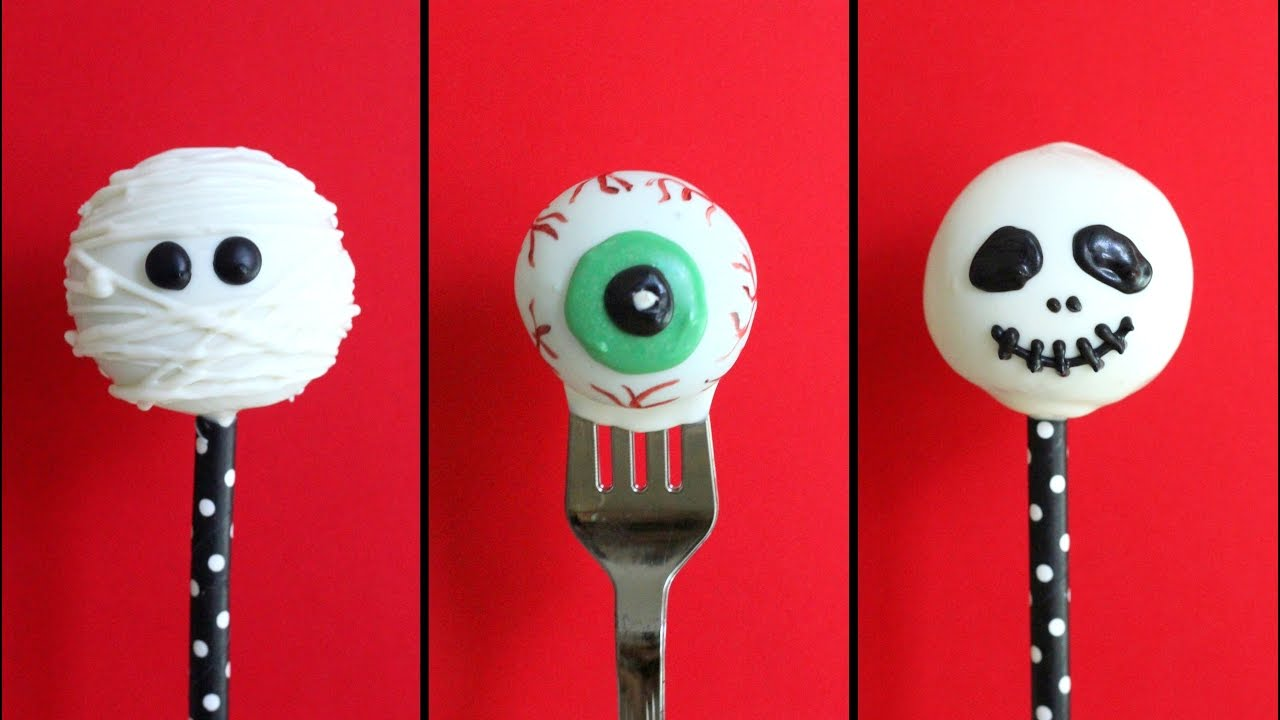 halloween cake pops - 3 ways - youtube