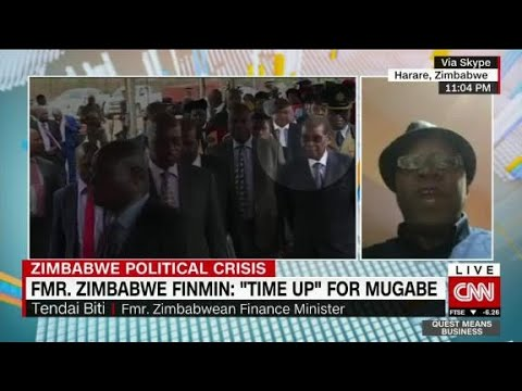 "Zimbabwe's Former Finance Minister: ""Time Up..."