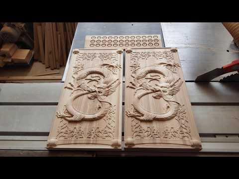 Dragon Backgammon With CNC. Нарды Дракон на ЧПУ