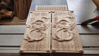 Dragon Backgammon with CNC. Нарды Дракон на ЧПУ