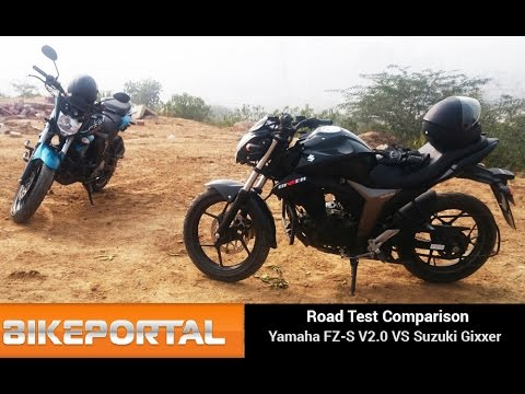 Yamaha FZS V2.0 Vs Suzuki Gixxer Comparison Review - Bikeportal