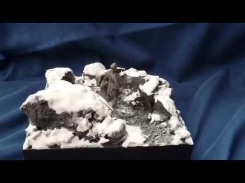 """The Mountain War"" South Tyrol 1916 diorama in 54mm scale"