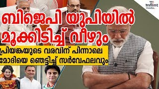 പ്രിയങ്ക വന്ന ഞെട്ടല് മാറും മുന്പേ ബിജെപിക്ക് വന് തിരിച്ചടി | UP India Today  Survey