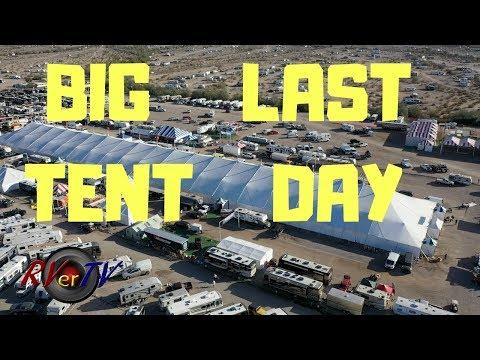 Quartzsite RV Show BIG TENT LAST DAY LOOK - Aerial Footage