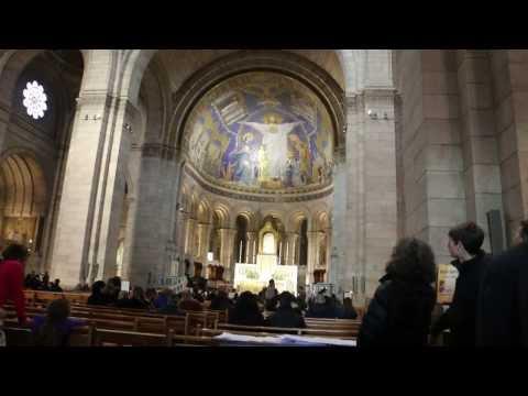 Walking Through Basilica Sacre Coeur Paris, France