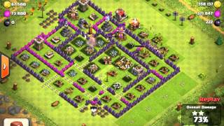 Clash of Clans: solid raid with 870k of resources