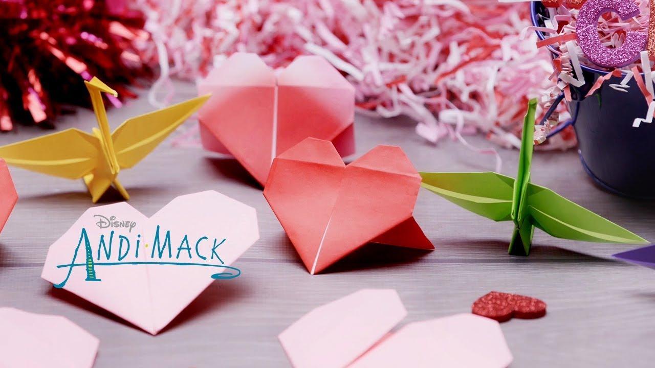 Andi\'s Origami Valentine\'s Day Hearts💗   Andi Mack   Disney Channel ...