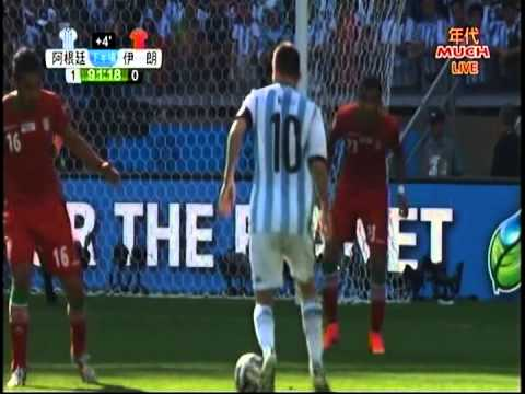 2014世界杯足球賽  阿根廷梅西   在最後91分鐘踢進關鍵決勝一球 1:0