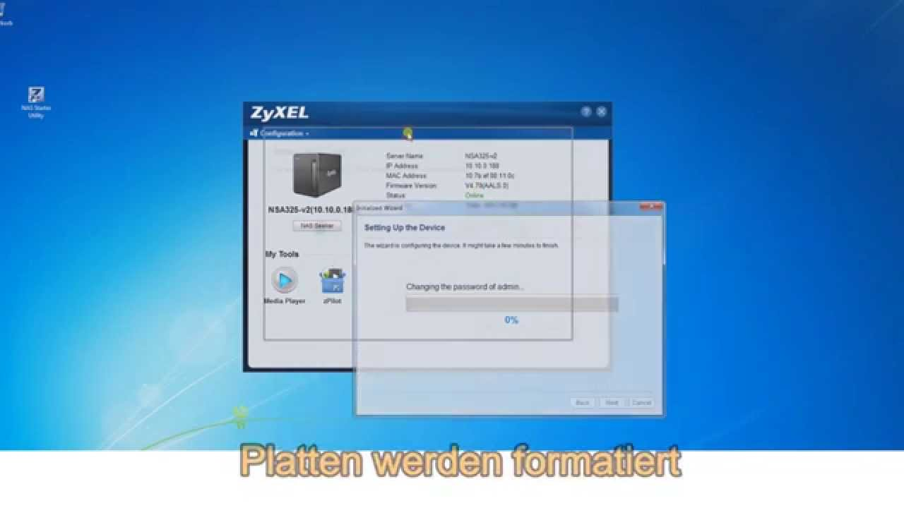 ZyXEL NSA 325 v2 Installations-Wizard - Deutsch / German ►►  notebooksbilliger de