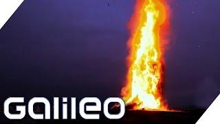 Das größte Lagerfeuer der Welt in Norwegen   Galileo   ProSieben